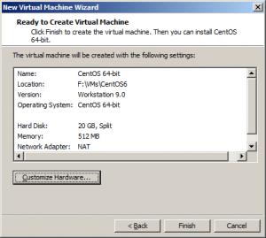 Установка CentOS на Vmware