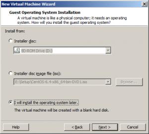 Установка CentOS Vmware