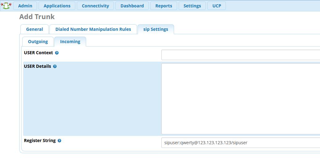 Добавление внутренних номеров (Extensions) в FreePBX