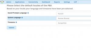 Выбор языка системы и звуковых файлов