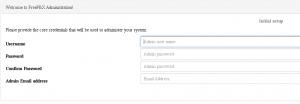 Создайте администратора системы FreePBX, установите пароль